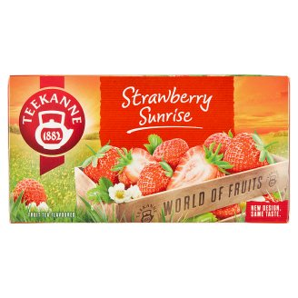 TEEKANNE Strawberry Sunrise, World of Fruits, 20 sáčků, 50g