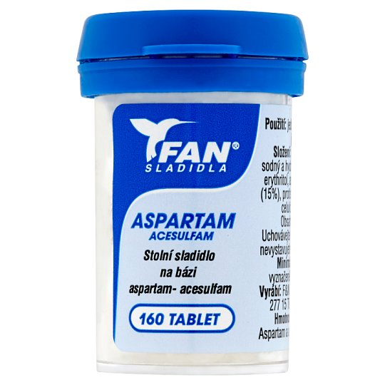 FAN Sladidla Aspartam Acesulfam Sweetener 160 Tablets 10g