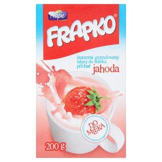 Frape Frapko Instantní granulovaný nápoj do mléka příchuť jahoda 200g