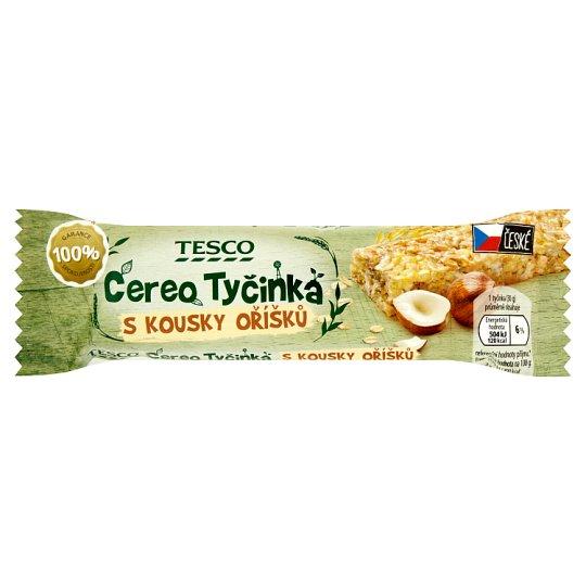 Tesco Cereo müsli tyčinka s kousky oříšků 30g