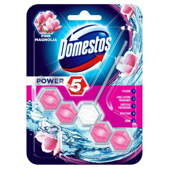 Domestos Power 5 Pink Magnolia WC blok 55g