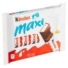 Kinder Chocolate Maxi Chocolate Milk Chocolate Bar with Milk Filling 6 x 21g