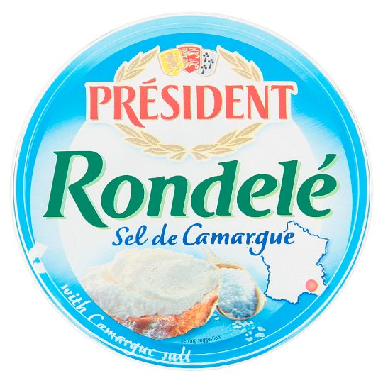 Président Rondelé Soft Cheese with Salt from the Region Camargues 125g