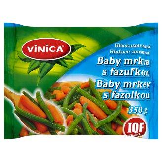 Vinica Hluboce zmrazená baby mrkev s fazolkou 350g