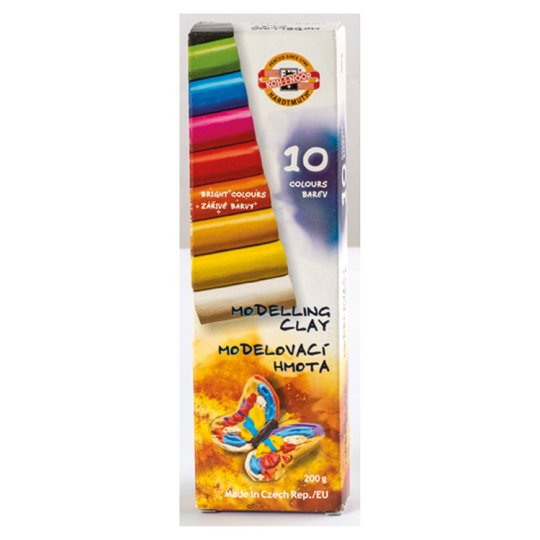 KOH-I-NOOR Modeling Clay 10 Colours 200g