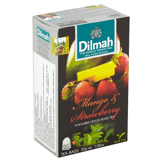 Dilmah Mango & Strawberry Flavoured Ceylon Black Tea 20 x 1,5g
