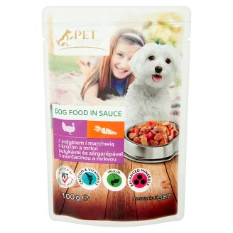 Tesco Pet Specialist Dog Food in Sauce with Turkey and Carrot 100g