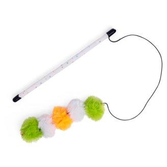 Little Petface Pom Pom Teaser Toy with Catnip
