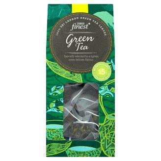 Tesco Finest Zelený čaj porcovaný 15 pyramidových sáčků 30g
