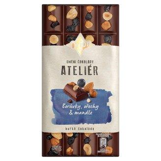ORION Ateliér Hořká čokoláda Borůvky, ořechy a mandle 195g