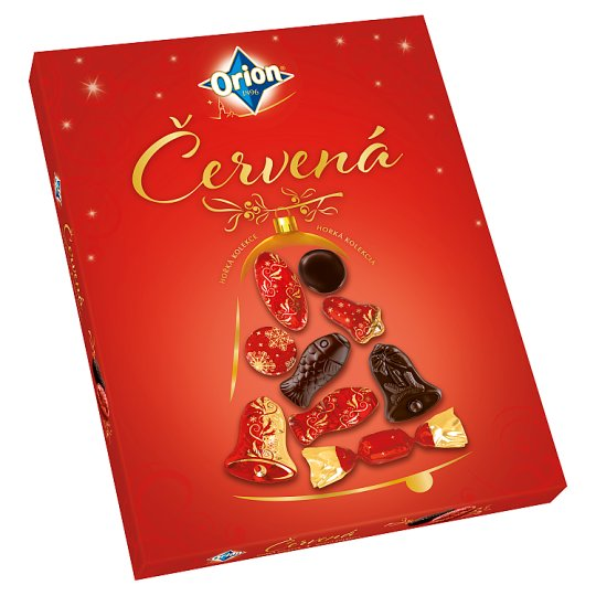 image 1 of ORION Christmas Red Collection of Dark Chocolate 500g