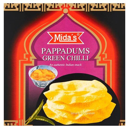 Mida's Pappadams placky chilli 110g