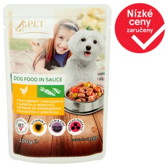 Tesco Pet Specialist Dog Food in Sauce with Chicken and Vegetables 100g