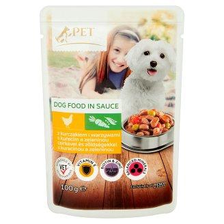 Tesco Pet Specialist Kousky s kuřecím a zeleninou v omáčce 100g