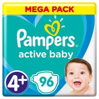 Pampers Diapers Size 4+, 96 Nappies, 10-15 kg