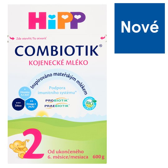 HiPP Combiotik 2 Organic Baby Milk from The End of The 6th Month 600g