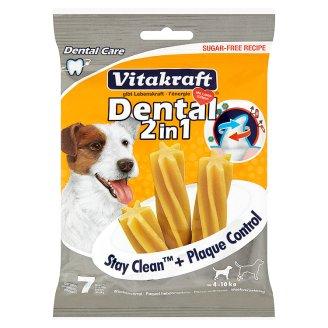 Vitakraft Dental 2v1 tyčky pro čištění zubů pro psy 7 ks