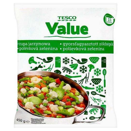 Tesco Value Polévková zelenina hluboce zmrazená 450g
