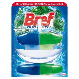 Bref Duo-Aktiv Northern Pine tekutý WC blok 2 x 50ml