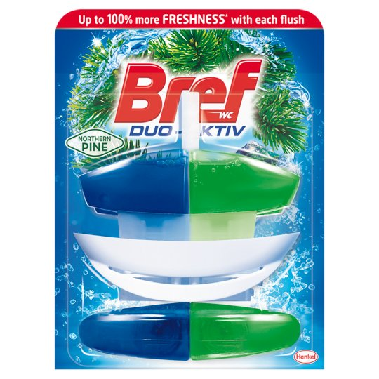Bref Duo-Aktiv Northern Pine tekutý WC blok 2 x 50ml