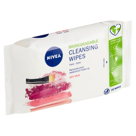 Nivea Gentle Cleansing Wipes 3 in 1 Dry to Sensitive Skin 25 pcs