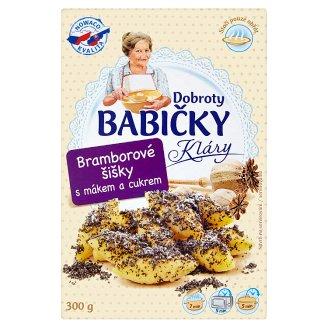 Dobroty Babičky Kláry Potato Cones with Poppy Seeds and Sugar 300g