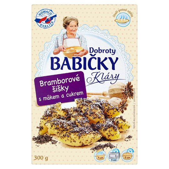 Dobroty Babičky Kláry Potato Cones with Poppy Seeds and Sugar 300g