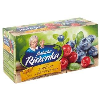 Babička Růženka Ovocný čaj s příchutí borůvek s brusinkami 20 x 2g