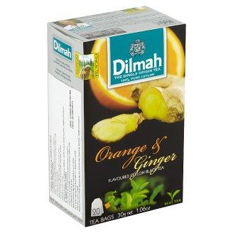Dilmah Orange & Ginger Flavoured Ceylon Black Tea 20 Tea Bags 30g