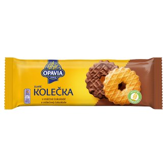 Opavia Zlatá Kolečka s máslovou chutí polomáčená v mléčné čokoládě 146g