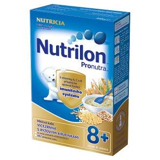 Nutrilon Pronutra dětská mléčná kaše vícezrnná s rýžovými křupinkami od uk. 8. měsíce 225g