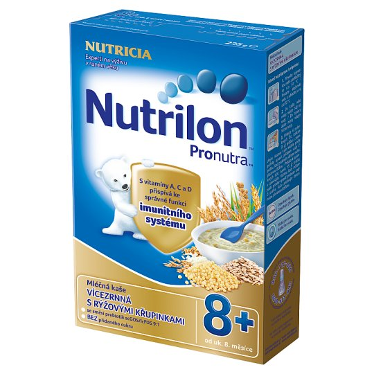 Nutrilon Pronutra Baby Milk Slurry Multi-garnet with Rice Crunch from the End of the 8th Month 225g