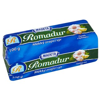 Madeta Romadur Garlic with Herbs Soft Ripened Cheese 100g