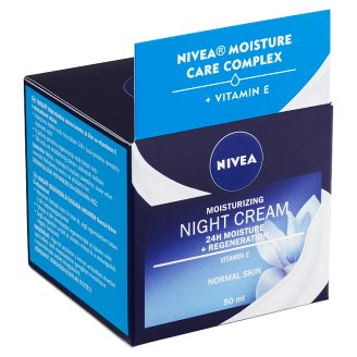 Nivea Essentials Zvláčňující noční krém normální až smíšená pleť 50ml
