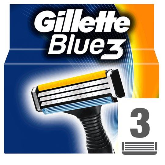 Gillette Blue3 Náhradní Hlavice K Pánskému Holicímu Strojku – 3ks