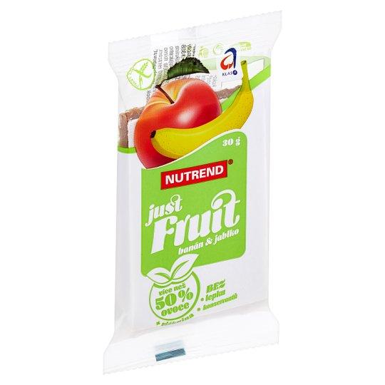 Nutrend Just Fruit Ovocná tyčinka banán + jablko 30g