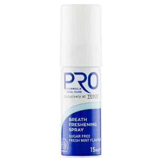 Tesco Pro Formula Freshmint ústní sprej bez cukru 15ml