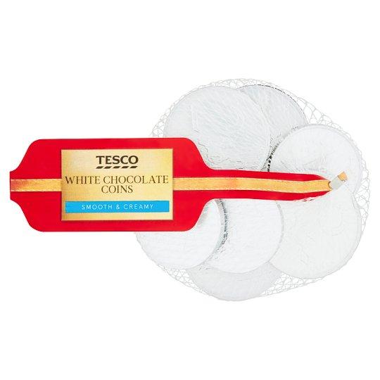 Tesco White Chocolate Coins 70g