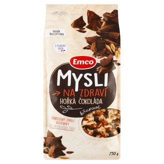 Emco Mysli na Zdraví Křupavé hořká čokoláda 750g