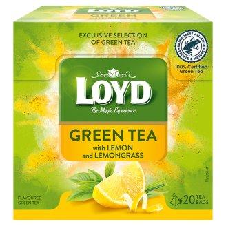 Loyd Zelený čaj s citrónovou kůrou a citrónovou trávou 20 x 1,5g