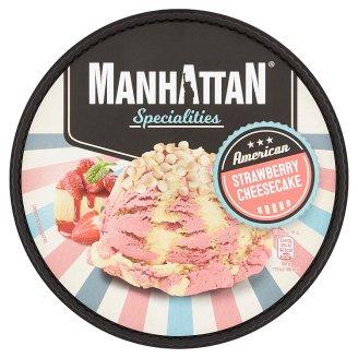 Manhattan Specialities Mražený krém jahodový a mražený krém se sýrem cottage 1000ml
