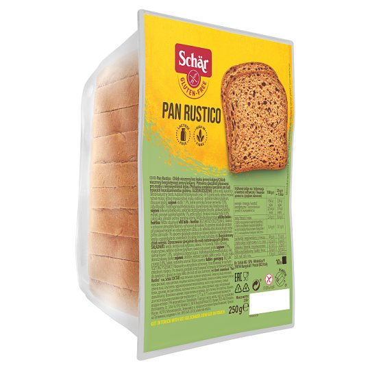 Schär Pan Rustico Bread Multigrain Bread without Gluten Gently Sliced 250g