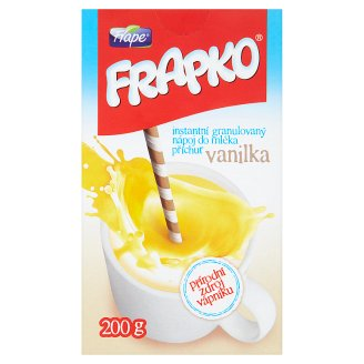 Frape Frapko Instant Granulated Drink in Milk Flavor Vanilla 200g