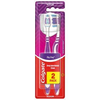 Colgate ZigZag Střední zubní kartáček 2 ks