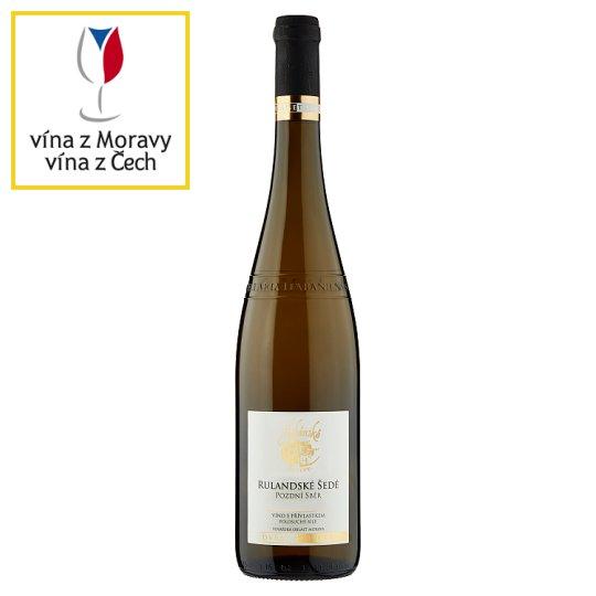 Habánské Sklepy Rulandské šedé víno s přívlastkem pozdní sběr polosuché bílé 0,75l