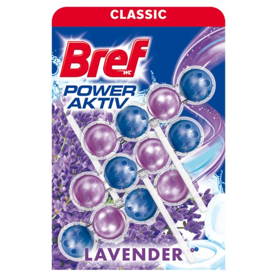 Bref Power Aktiv Lavender Field tuhý WC blok 3 x 50g