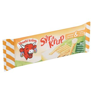 Veselá Kráva Sýr a křup Delicious Cheese & Sticks with Wholemeal Flour 35g