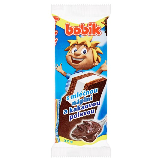 Bobík Slice with Milk Filling and Cocoa Icing 30g