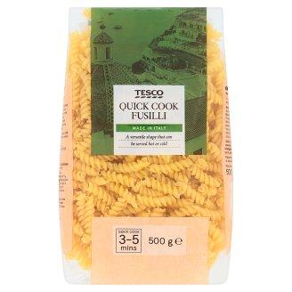 Tesco Fusilli těstoviny bezvaječné semolinové sušené 500g