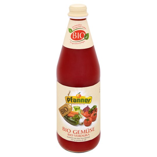 Pfanner BIO Vegetable Drink Made from Several Types of Vegetables Milk Fermented with Sea Salt 0.5L